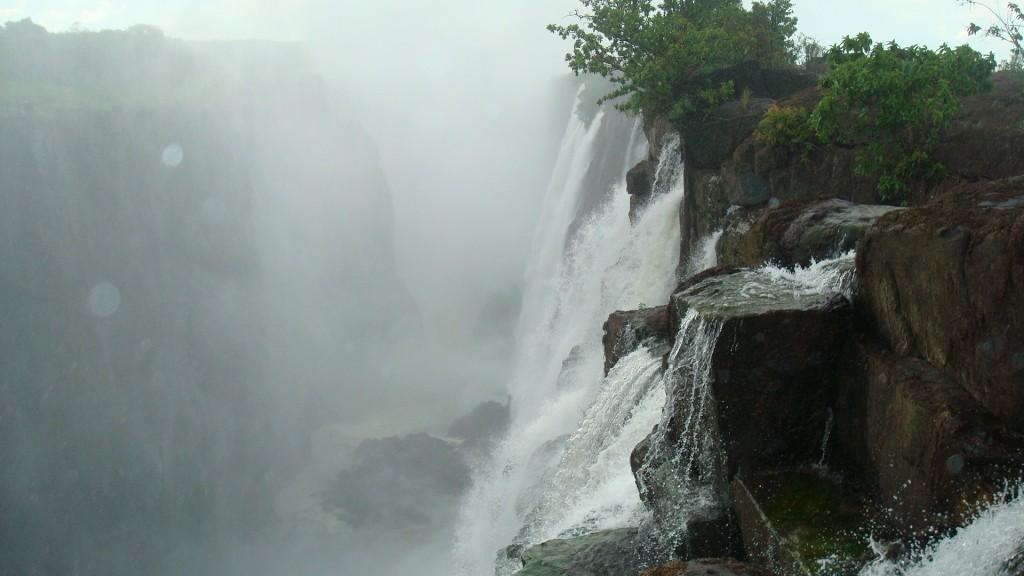 Up close at Victoria Falls